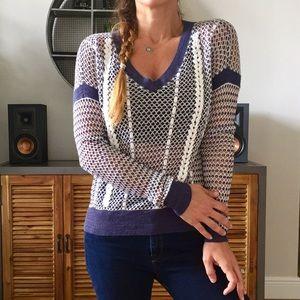A&F Open Knit Woven Sweater
